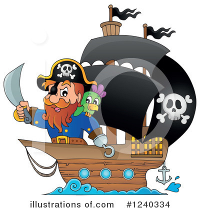 Royalty-Free (RF) Pirate Clipart Illustration by visekart - Stock Sample #1240334