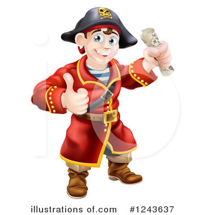 Pirate Clipart #1243637 by AtStockIllustration