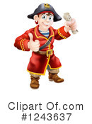 Royalty-Free (RF) Pirate Clipart Illustration #1243637
