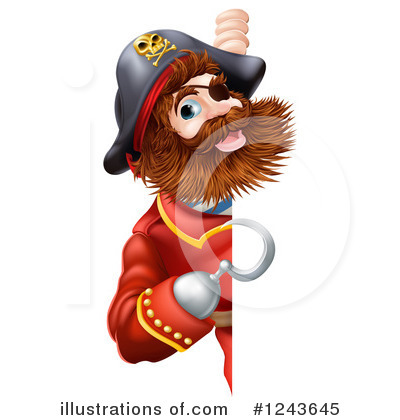 Pirate Clipart #1243645 by AtStockIllustration