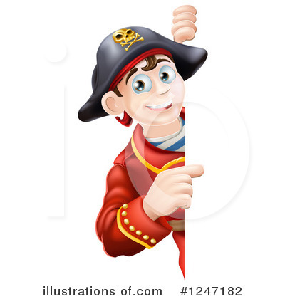 Pirate Clipart #1247182 by AtStockIllustration