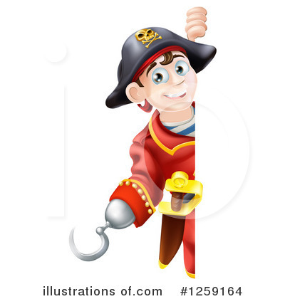 Pirate Clipart #1259164 by AtStockIllustration