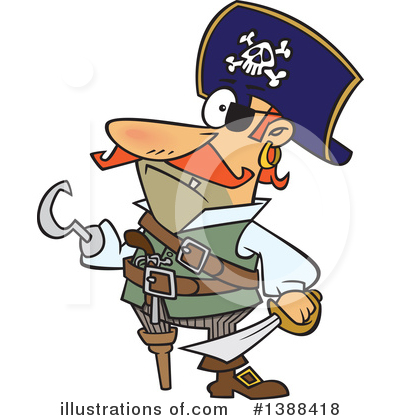 Pirate Clipart #1388418 by toonaday