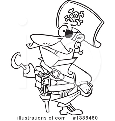 Pirate Clipart #1388460 by toonaday