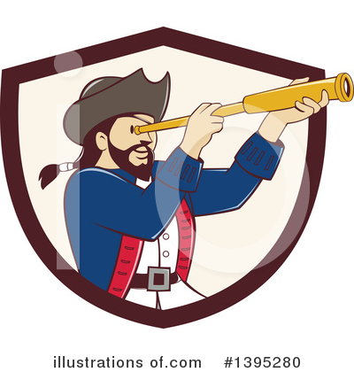 Royalty-Free (RF) Pirate Clipart Illustration by patrimonio - Stock Sample #1395280