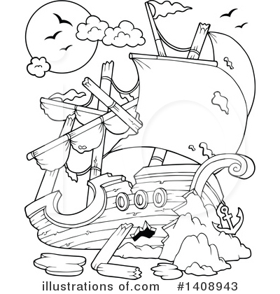 Ship Clipart #1408943 by visekart