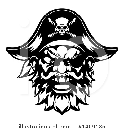 Pirate Clipart #1409185 by AtStockIllustration