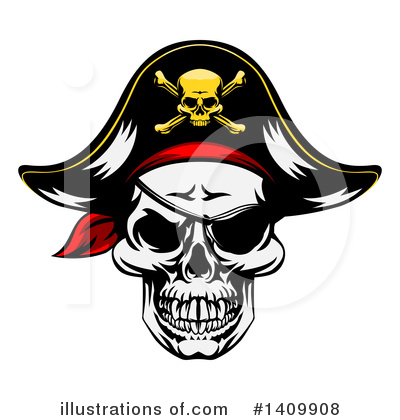 Pirate Clipart #1409908 by AtStockIllustration