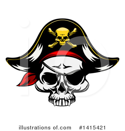 Pirate Clipart #1415421 by AtStockIllustration