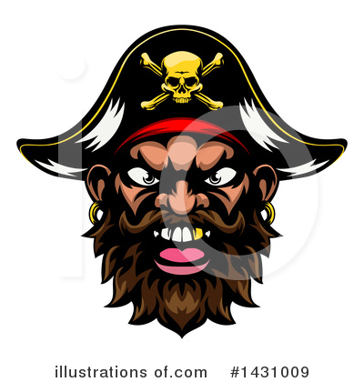 Pirate Clipart #1431009 by AtStockIllustration