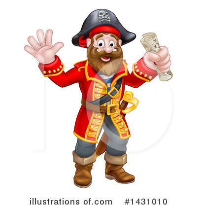 Pirate Clipart #1431010 by AtStockIllustration