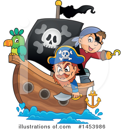 Pirate Ship Clipart #1453986 by visekart