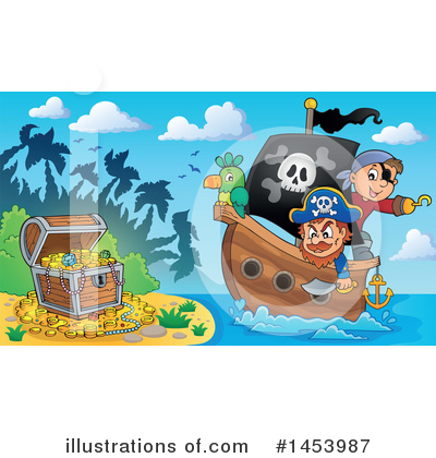 Pirate Ship Clipart #1453987 by visekart