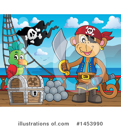 Pirate Ship Clipart #1453990 by visekart