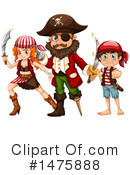 Royalty-Free (RF) Pirate Clipart Illustration #1475888