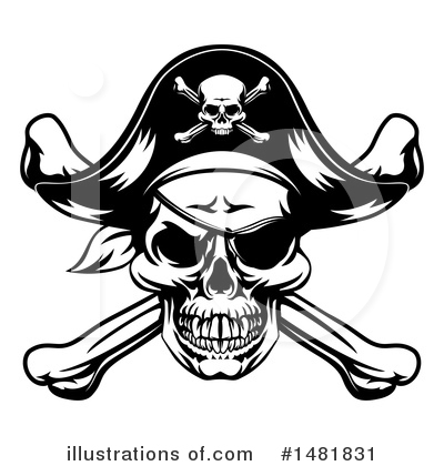 Skulls Clipart #1481831 by AtStockIllustration