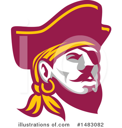 Pirate Clipart #1483082 by patrimonio