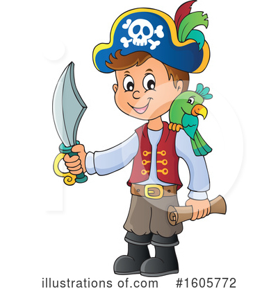 Royalty-Free (RF) Pirate Clipart Illustration by visekart - Stock Sample #1605772