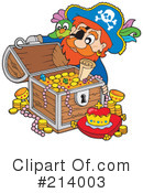 Royalty-Free (RF) Pirate Clipart Illustration #214003