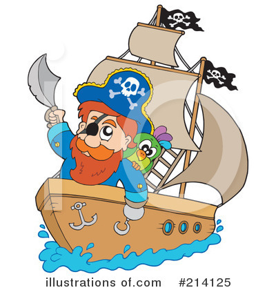 Royalty-Free (RF) Pirate Clipart Illustration by visekart - Stock Sample #214125