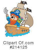 Royalty-Free (RF) Pirate Clipart Illustration #214125
