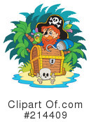 Royalty-Free (RF) Pirate Clipart Illustration #214409