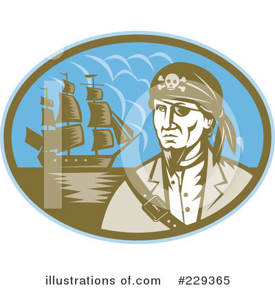 Pirate Clipart #229365 by patrimonio