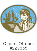 Royalty-Free (RF) Pirate Clipart Illustration #229365