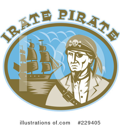 Pirate Clipart #229405 by patrimonio