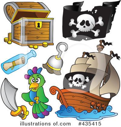 ... (RF) Pirate Clipart Illustration by visekart - Stock Sample #435415