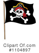 Royalty-Free (RF) Pirate Flag Clipart Illustration #1104897