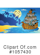 Pirate Ship Clipart #1057430 by visekart