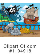 Royalty-Free (RF) Pirate Ship Clipart Illustration #1104918
