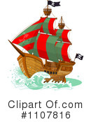 Royalty-Free (RF) Pirate Ship Clipart Illustration #1107816