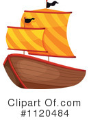 Royalty-Free (RF) Pirate Ship Clipart Illustration #1120484