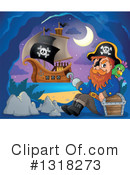 Pirate Ship Clipart #1318273