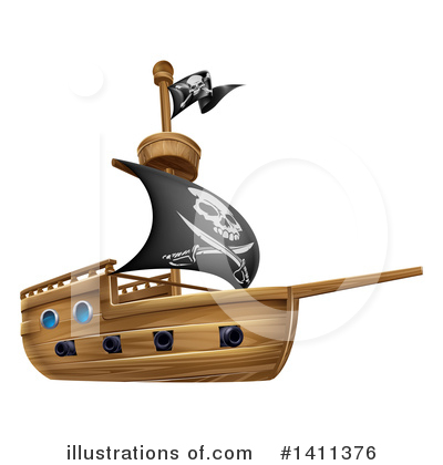 Pirate Clipart #1411376 by AtStockIllustration