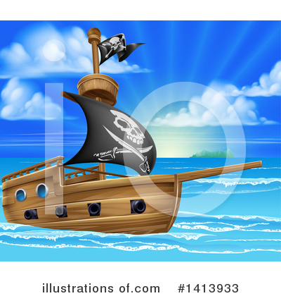Pirate Clipart #1413933 by AtStockIllustration