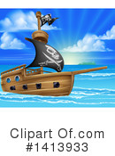 Pirate Ship Clipart #1413933