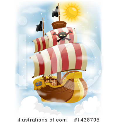 Royalty-Free (RF) Pirate Ship Clipart Illustration by BNP Design Studio - Stock Sample #1438705