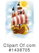 Royalty-Free (RF) Pirate Ship Clipart Illustration #1438705