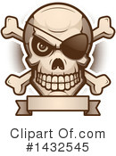Pirate Skull Clipart #1432545 by Cory Thoman