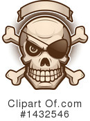 Pirate Skull Clipart #1432546 by Cory Thoman