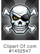 Pirate Skull Clipart #1432547 by Cory Thoman