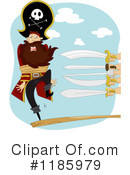 Royalty-Free (RF) Pirates Clipart Illustration #1185979