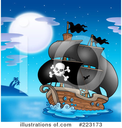 Pirate Ship Clipart #223173 by visekart