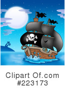 Royalty-Free (RF) Pirates Clipart Illustration #223173