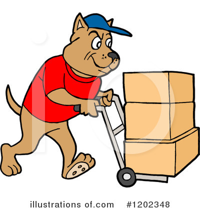 Delivery Clipart #1202348 by LaffToon