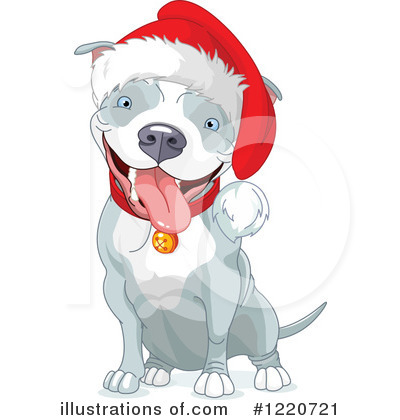 Royalty-Free (RF) Pit Bull Clipart Illustration by Pushkin - Stock Sample #1220721