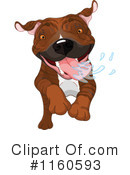 Royalty-Free (RF) Pitbull Clipart Illustration #1160593